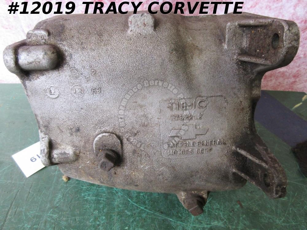 1964 Borg Warner T10-1C Used Alum. 4 Speed Transmission Main Case Dated L 12 63