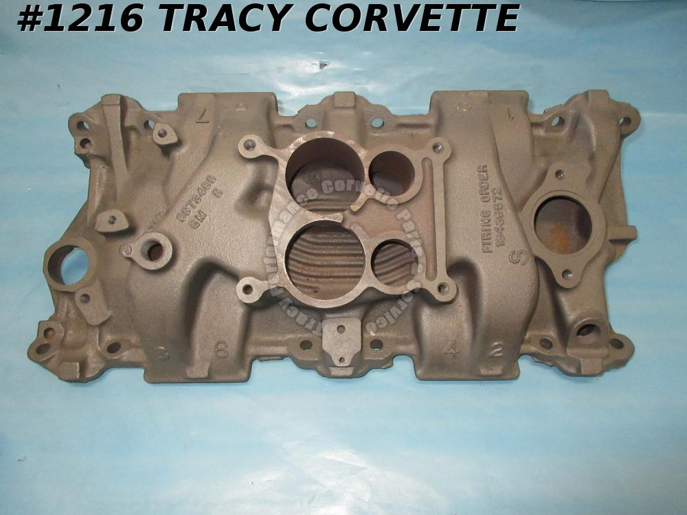 1971 Corvette/Industrial/Marine Used 3973469 Q-Jet Iron Intake Date Choice SBC