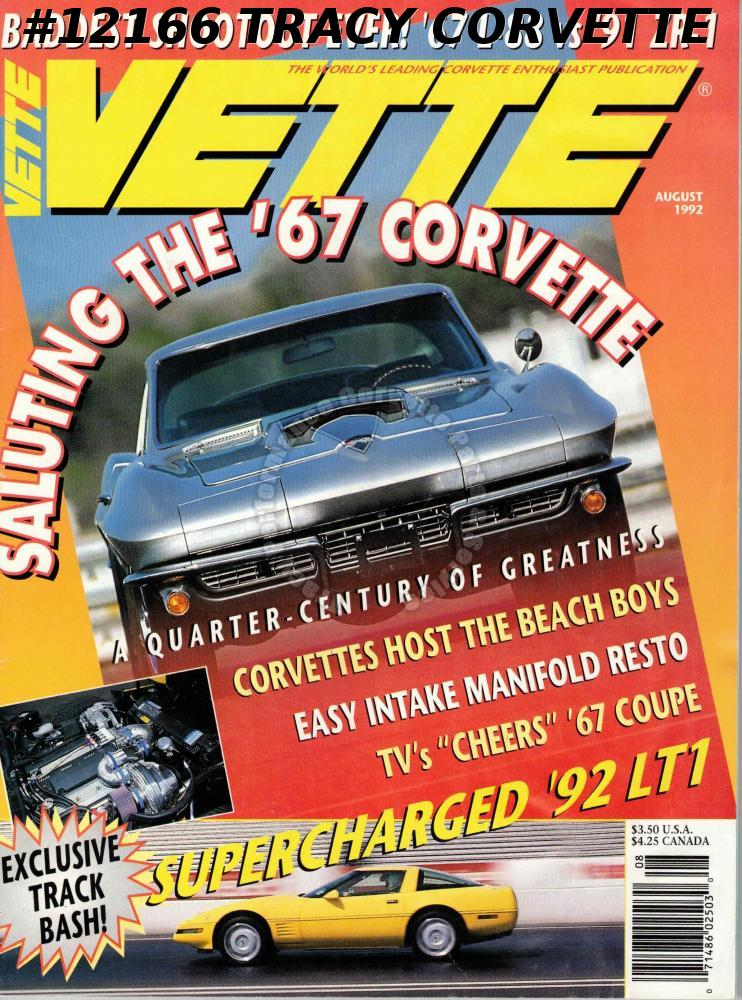August 1992 VETTE Supercharged 1992 LT1 TV Cheers 1967 Coupe Beach Boys 91 ZR-1