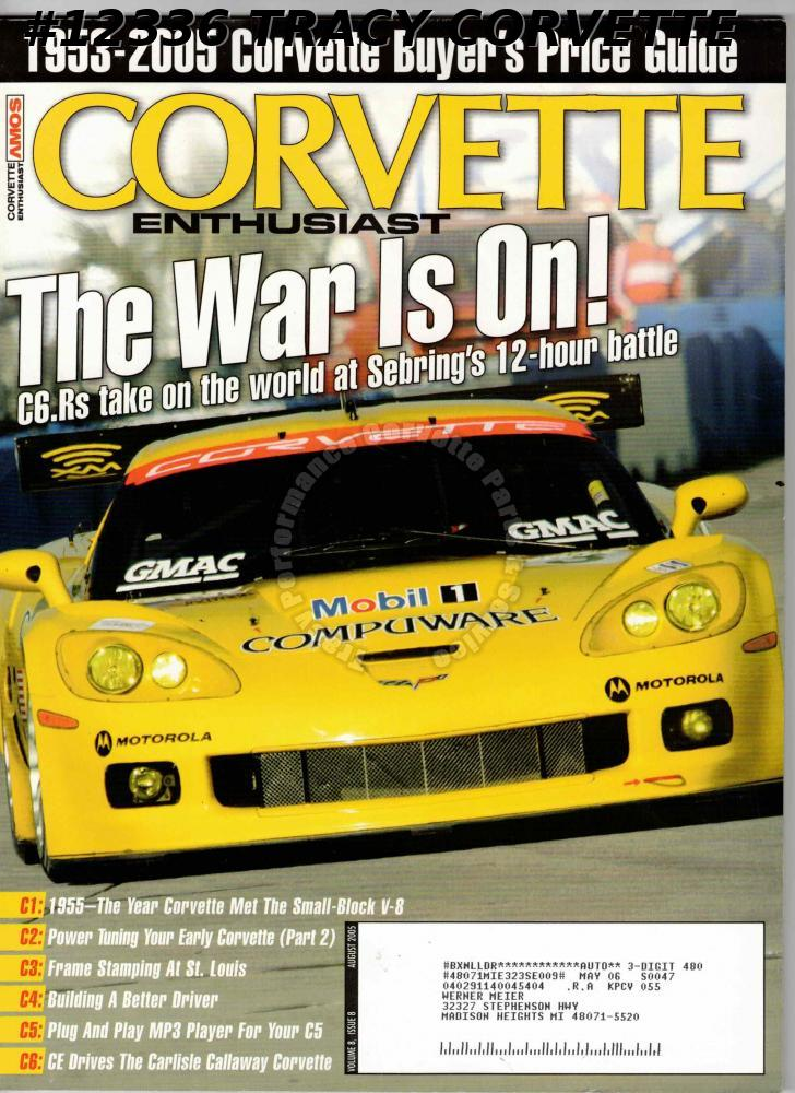 August 2005 Corvette Enthusiast C6.Rs Sebring 12 Hr Paul Catinella Gypsy Red 55