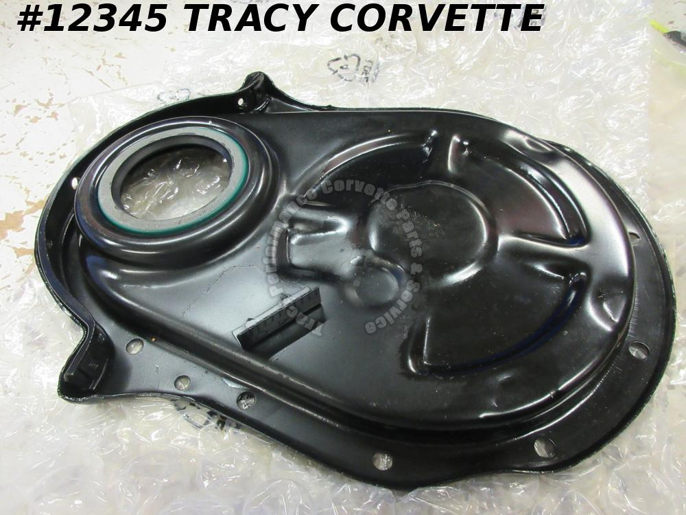 "1965-1966 Chevrolet Corvette Timing Chain Cover 8"" balancer 427 396 SHP Tab Pins"