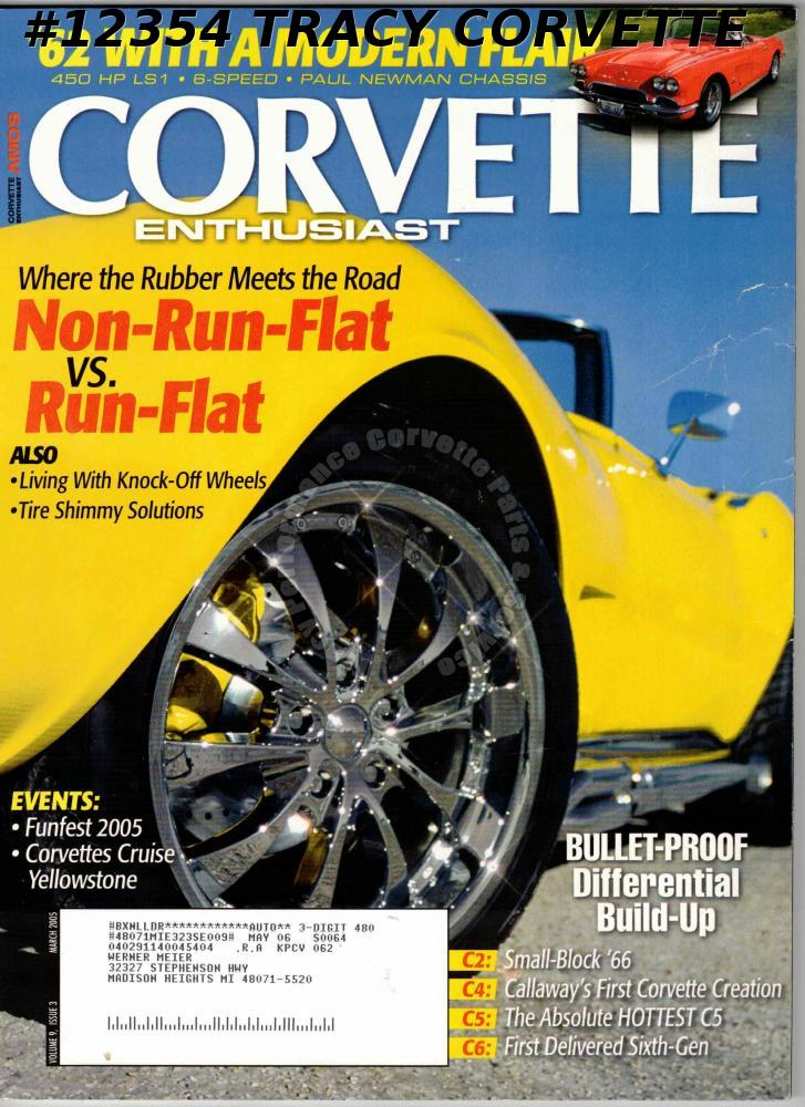 March 2006 Corvette Enthusiast Corvettes cruise Yellowstone B2K Callaway 1st C6