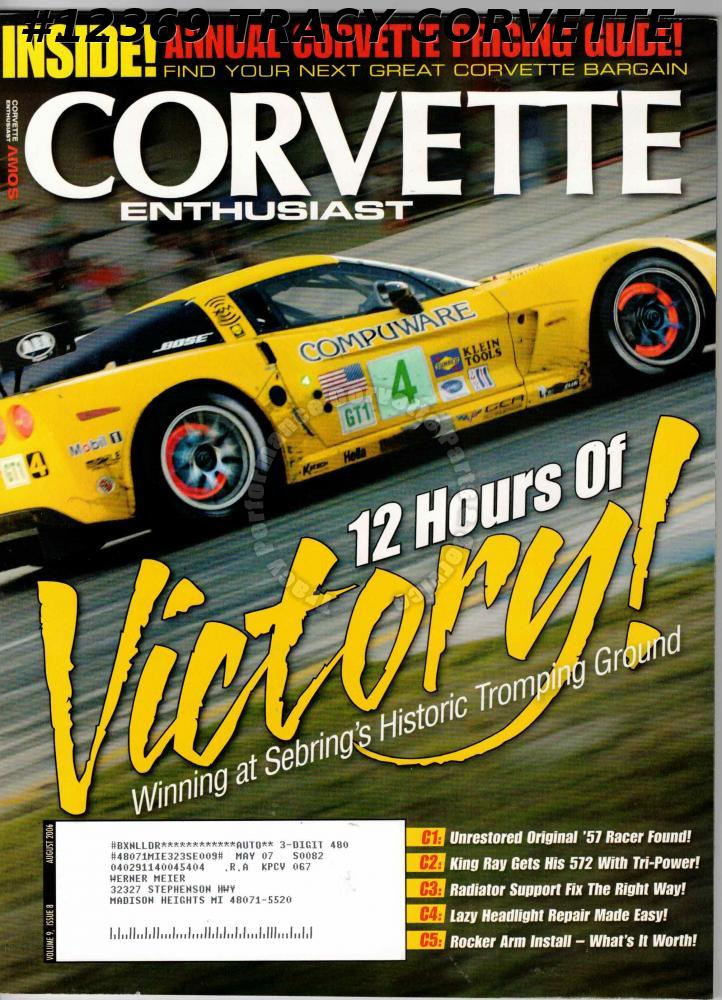 July 2006 Corvette Enthusiast 1991 B2K Jim Gramm's Competition Pearl Yellow