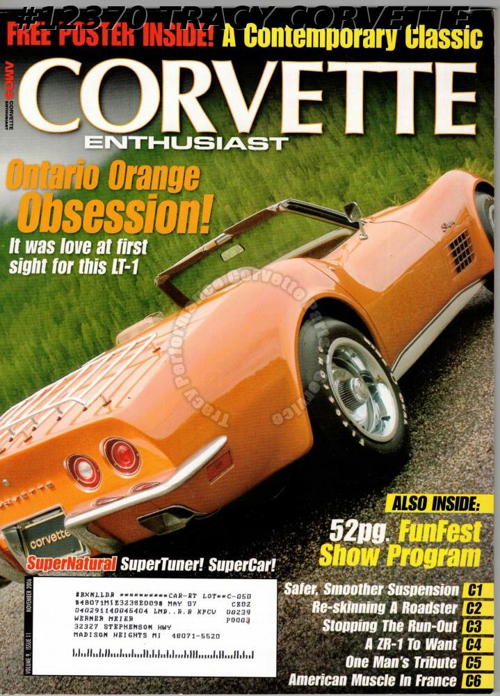 November 2006 Corvette Enthusiast 1991 B2K Jim Gramm's Competition Pearl Yellow