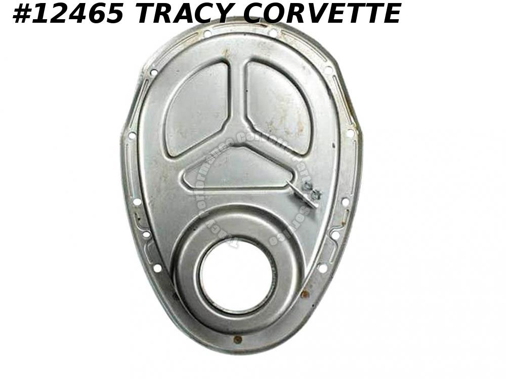 "1955-1967 Corvette 283 / 327 Timing Chain Cover for cars w/ 6"" Balancer"