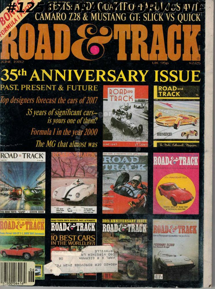June 1982 ROAD & TRACK 35th Anniversary Issue Formula 1 Poster Audi Quattro Test