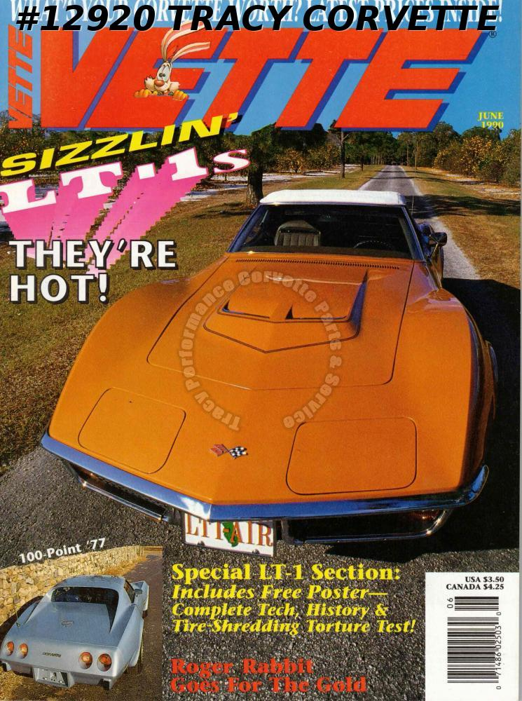 June 1990 VETTE Special LT-1 Section Poster Roger Rabbit Bloomington Cypress