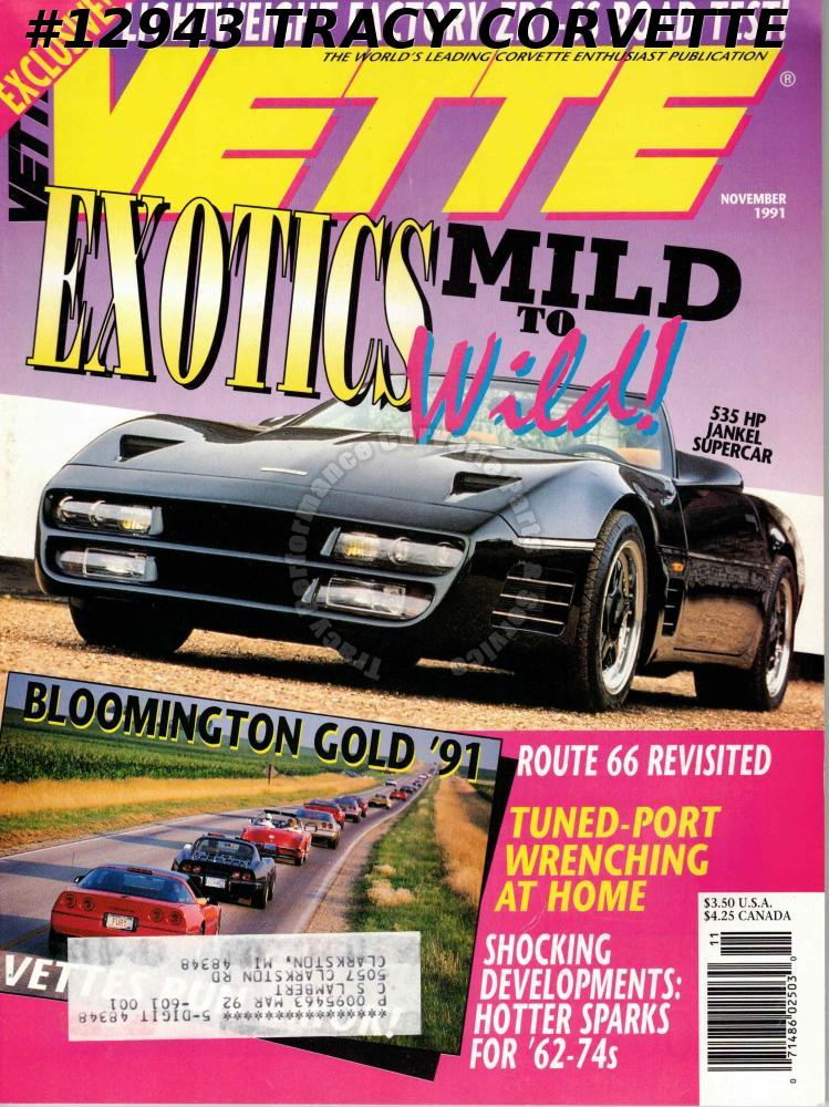 November 1991 Vette 535 HP Jankel Supercar Route 66 Bloomington Gold ZR1-SS