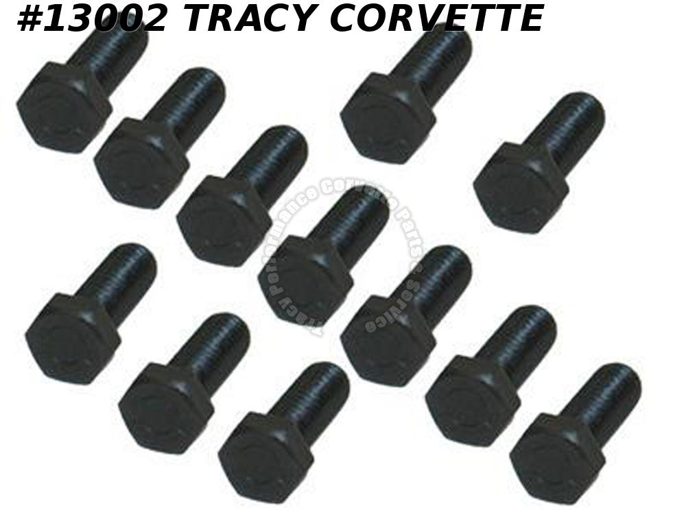 "1957-1967 Corvette Intake Manifold ""M"" Bolt Set - 250 / 300 Horsepower - Black"