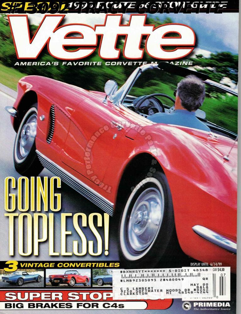 July 1999 VETTE 3 Vintage Convertibles Special 1999 Route 66 Show Guide