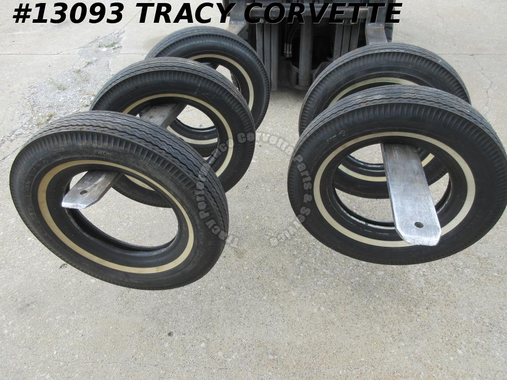 1963-1964 Corvette Firestone 500 6.70x15 non DOT Tires NOS OEM Original set of 5