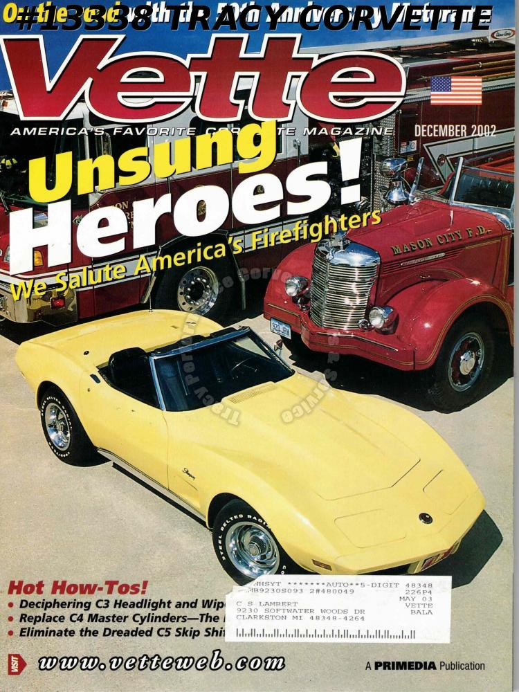 December 2002 Vette Salute America's Firefighters 50th Anniversary Motorama