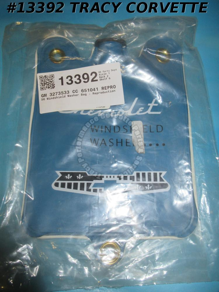 1956 Corvette Windshield Washer Bag - Reproduction  USA Made 	3273533