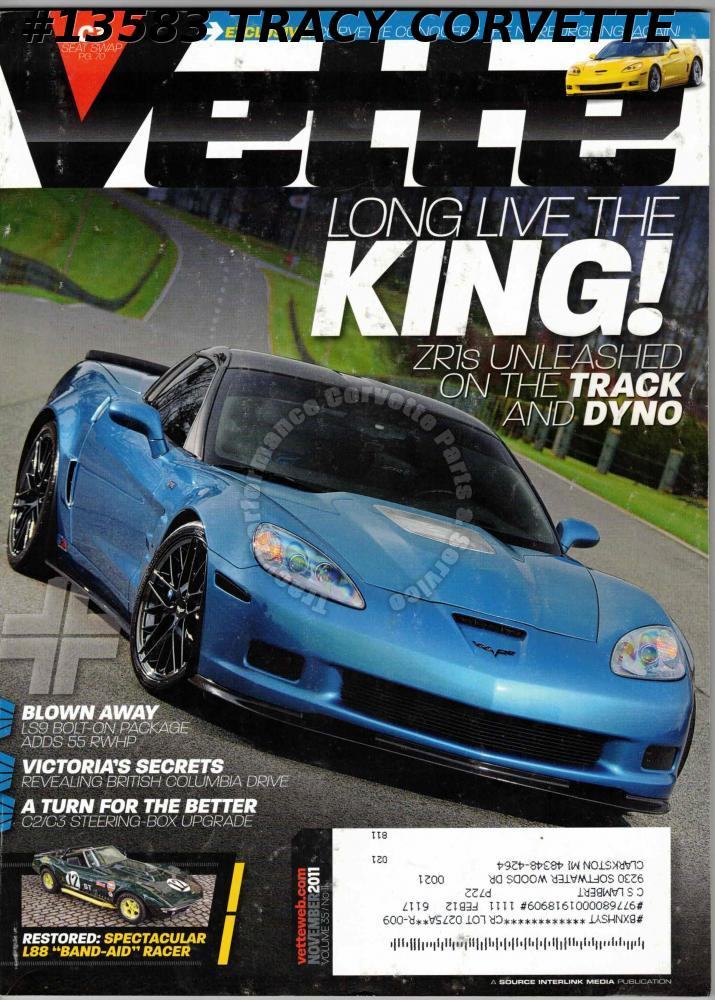 November 2011 VETTE Corvette Conquers Nurburgring Band-Aid L88 racer ZR1s Track
