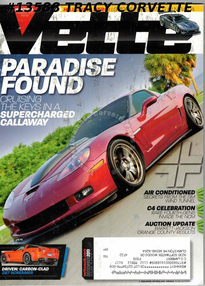 December 2011 VETTE Supercharged Callaway Florida Keys Lou Gigliotti Spectre 341