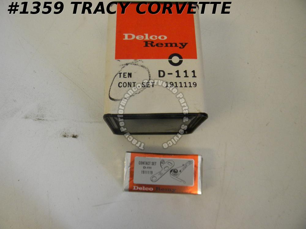 1938-62 Chevrolet NOS 1911119 Delco Remy D-111 Contact Point Set/Box with 10 Set