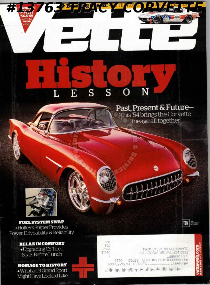 March 2018 VETTE Bowling Green Holley LS Fest East 1954 Corvette