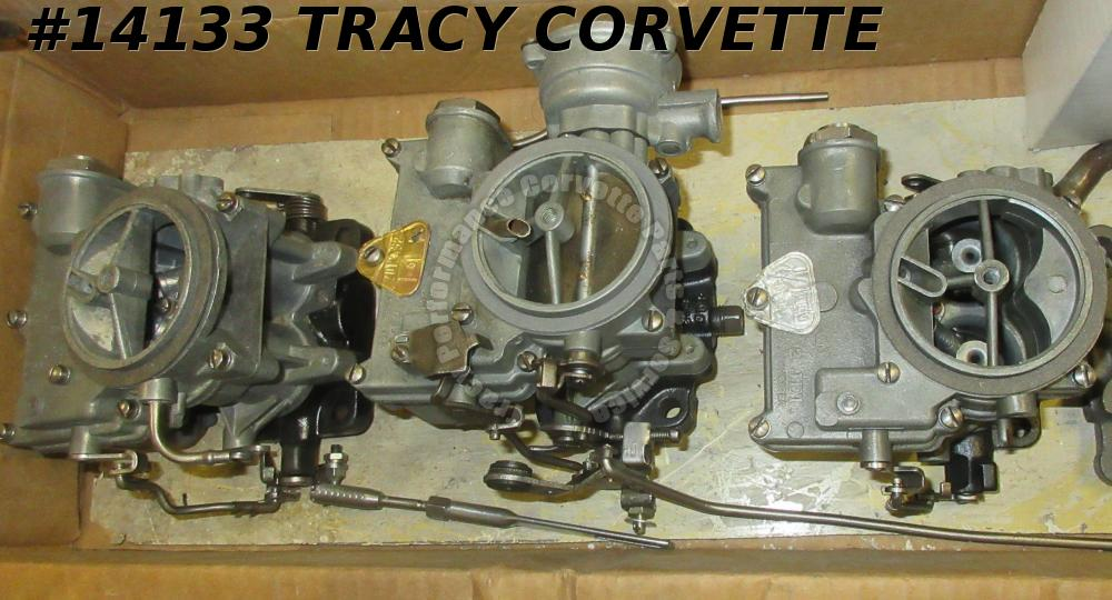1958-1961 Chevrolet Tri Power 3x2 Rochester 2 Jet Carbs 348/ 409 Engines Rebuilt