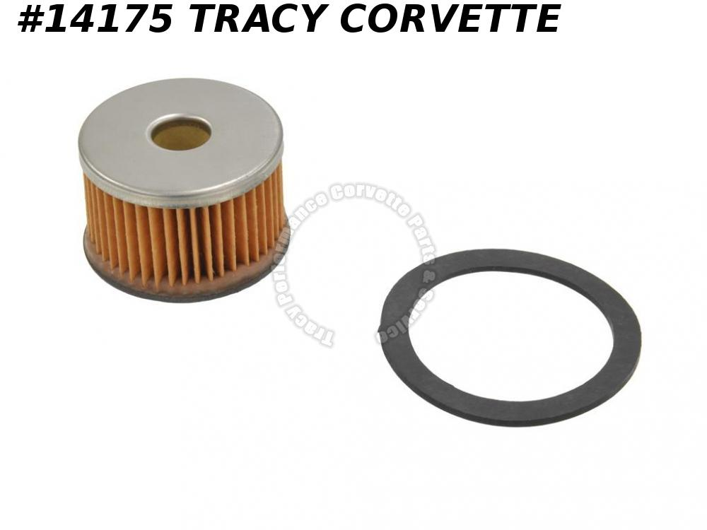 1953-1962 Corvette GF48 Fuel Filter Paper Element with Gasket