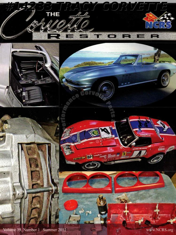 Vol 39 No 1 Summer 2012 The Corvette Restorer March 1964 Chevrolet Service News