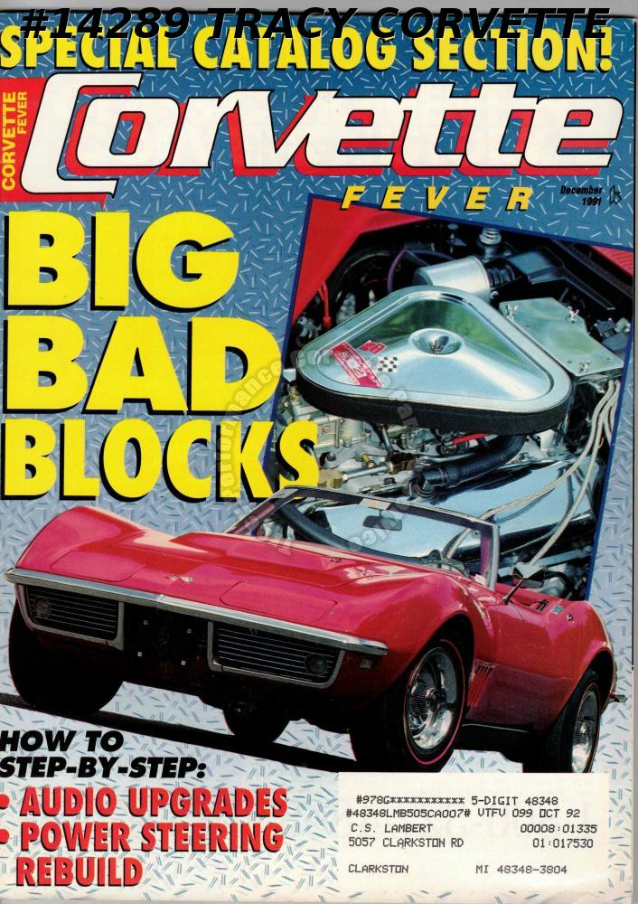 December 1991 CORVETTE FEVER GM 1954 Motorama Concept Cars 1967-1969 L89
