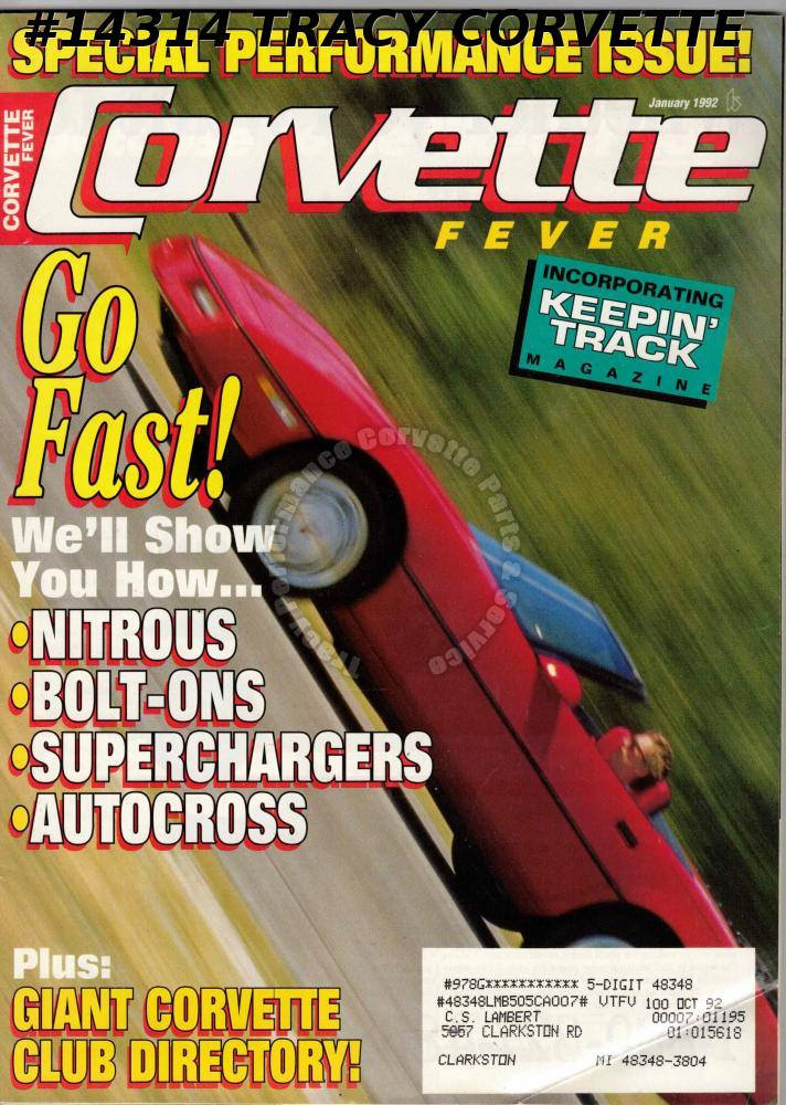 January 1992 CORVETTE FEVER Special Performance Issue Nitrous Autocross