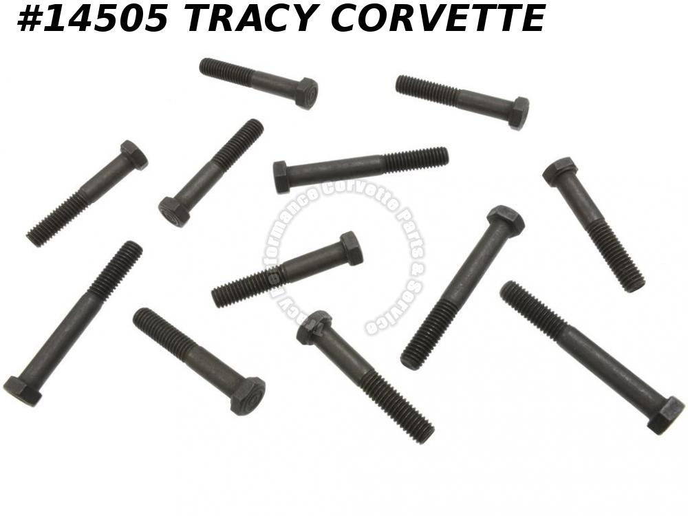 1956-1980 Corvette Exhaust Manifold Bolt Set - 283 327 350 - 12 Pieces