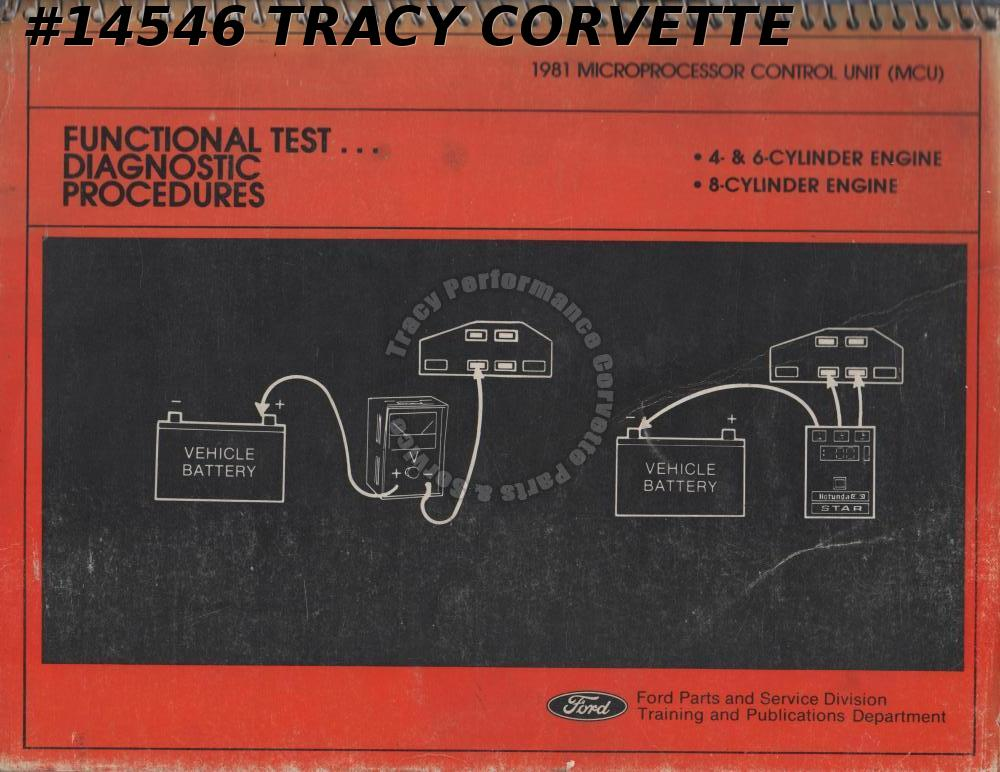 1981 Ford Microprocessor Control Unit Functional Test Diagnostic Procedures