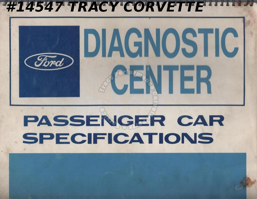 1963-1967 Ford Diagnostic Center Passenger Car Specifications