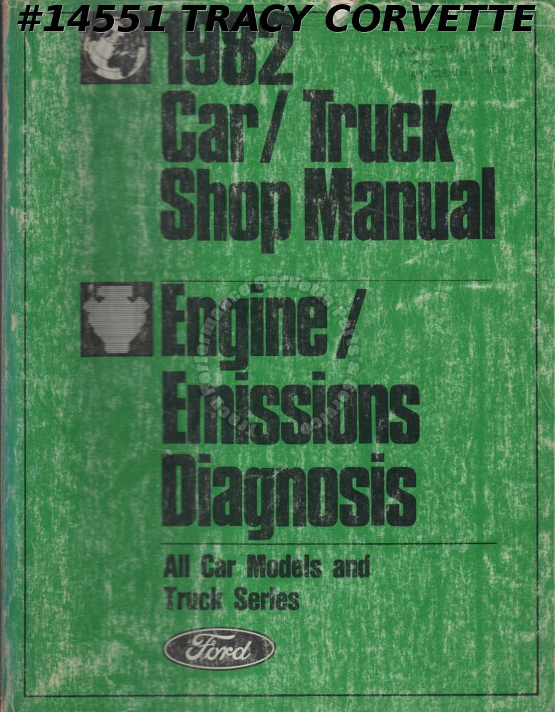 1982 Ford Car and Truck Shop Manual Engine and Emissions Diagnosis