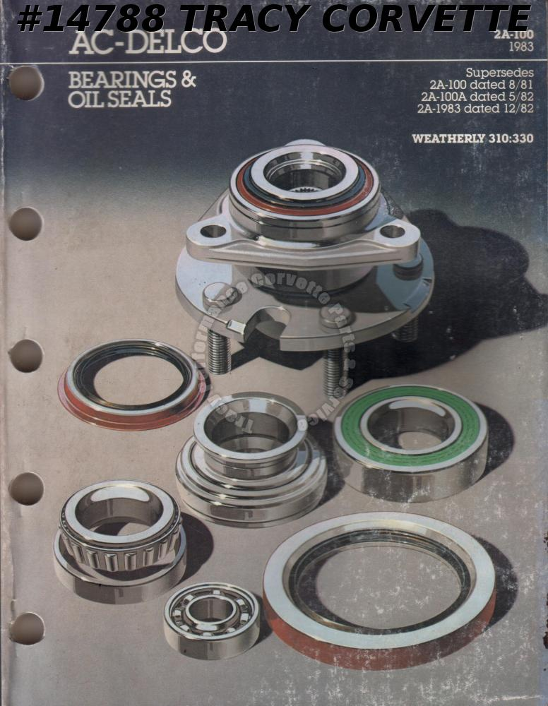 1983 AC-Delco Bearings & Oil Seals 2A-100