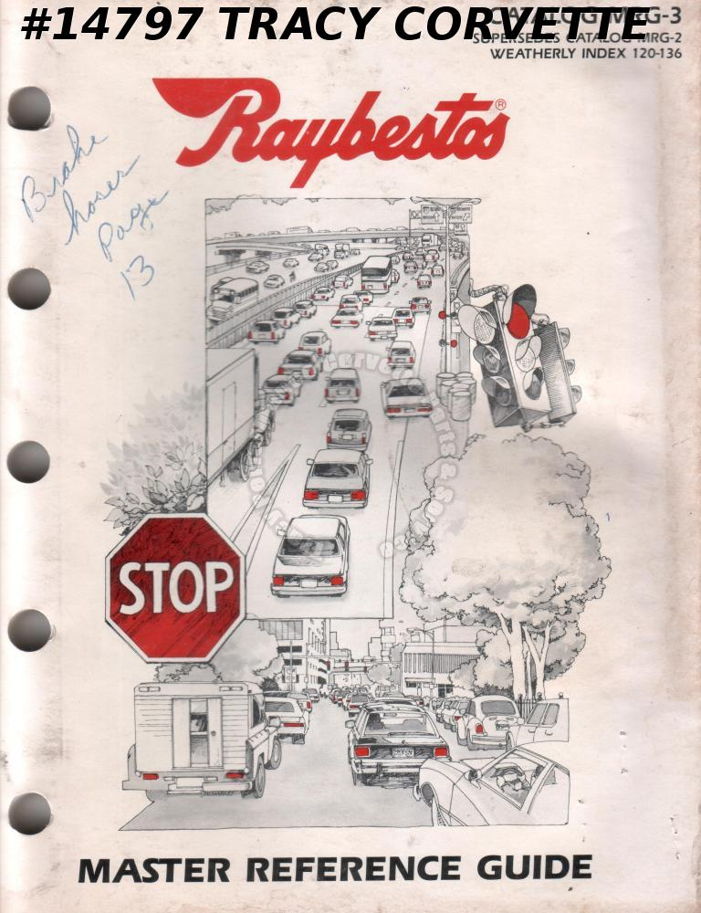 Vintage Raybestos Master Reference Guide Catalog MRG-3