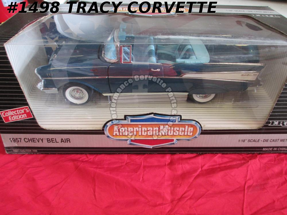 1957 Chevrolet Chevy Bel Air Conv 7345 7498 American Muscle Harbor Blue Die-Cast