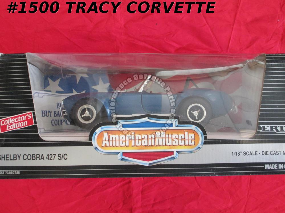 1993 Shelby Cobra 427 SC 7346 7386 American Muscle Blue/White Ertl Die-Cast 1/18