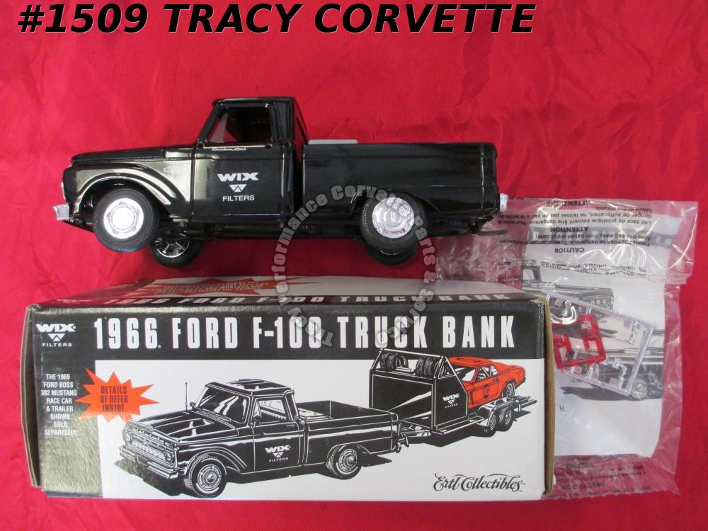1966 Ford Used Ertl F960 2146 WIX 99029 F-100 Styleside Pickup Truck Black Bank