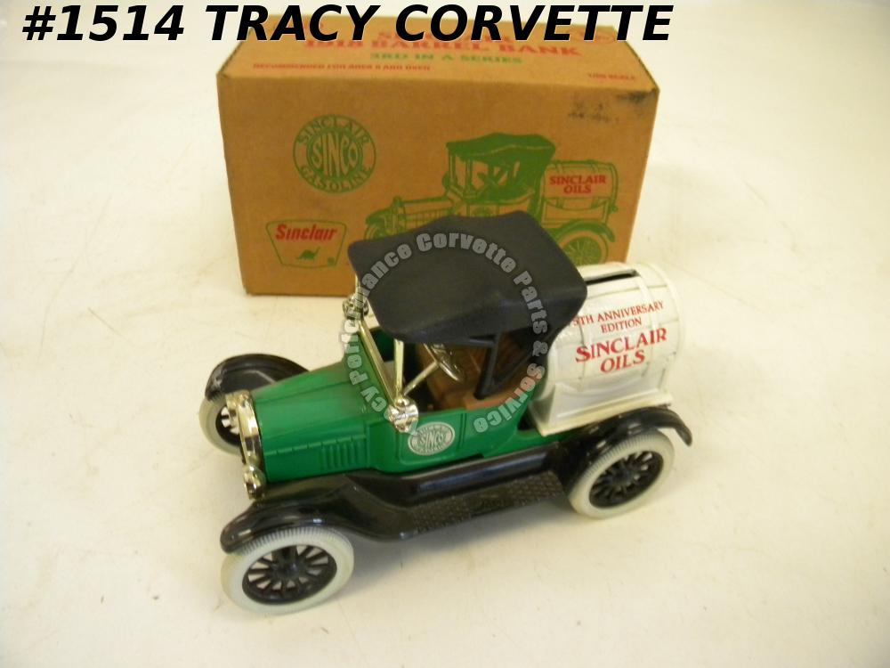 1918 Sinclair Oil Barrel Green Toy Bank ERTL Limited Edition Stock Number 9483UP