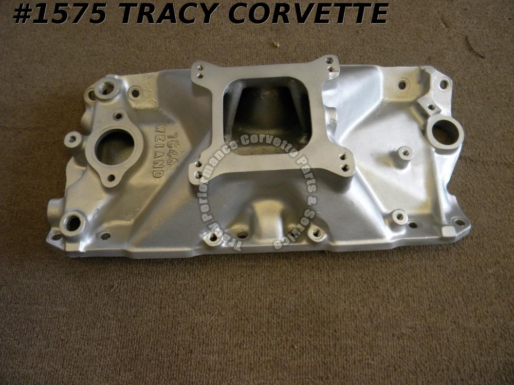 1955-1991 Chevy Weiand Used 7546 Small Block Intake Manifold 283 327 350 400 SBC