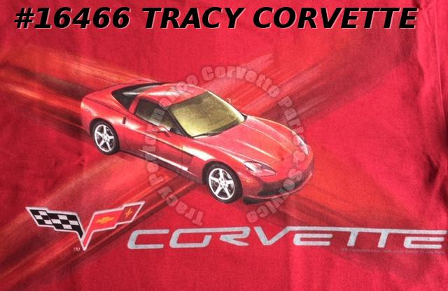 New XX-Large C6 2005-2013 Red Corvette Red T-Shirt