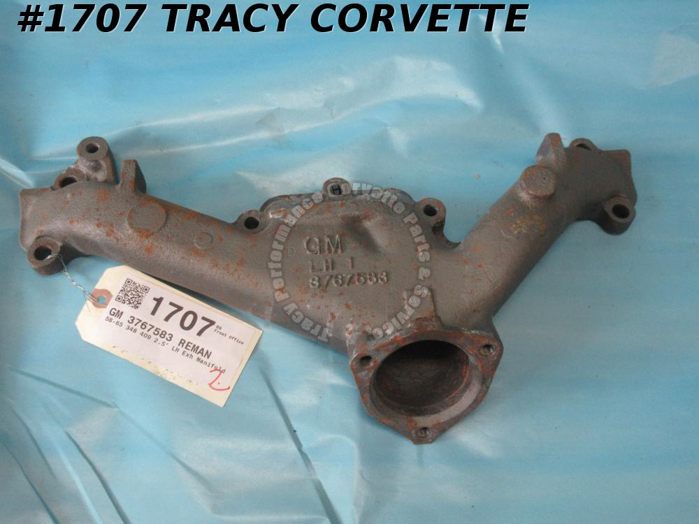 "1958-1965 Chevy Used 3767583 348-409 2.5"" LH Exhaust Manifold Rare Shot Blasted"