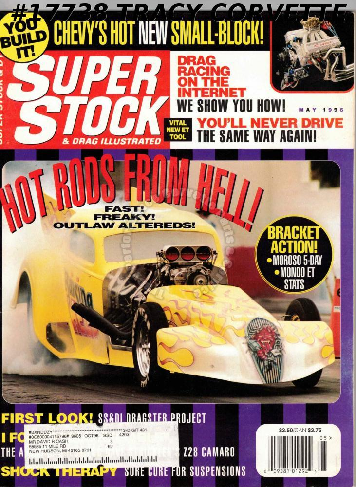 May 1996 Super Stock & Drag Illustrated Jerry MacNeish Dave Strickler