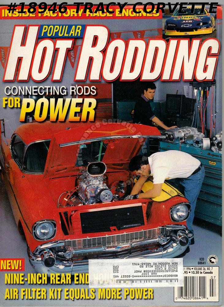 July 1996 Popular Hot Rodding SCCA Trans Am Dan McCardle 1967 Camaro