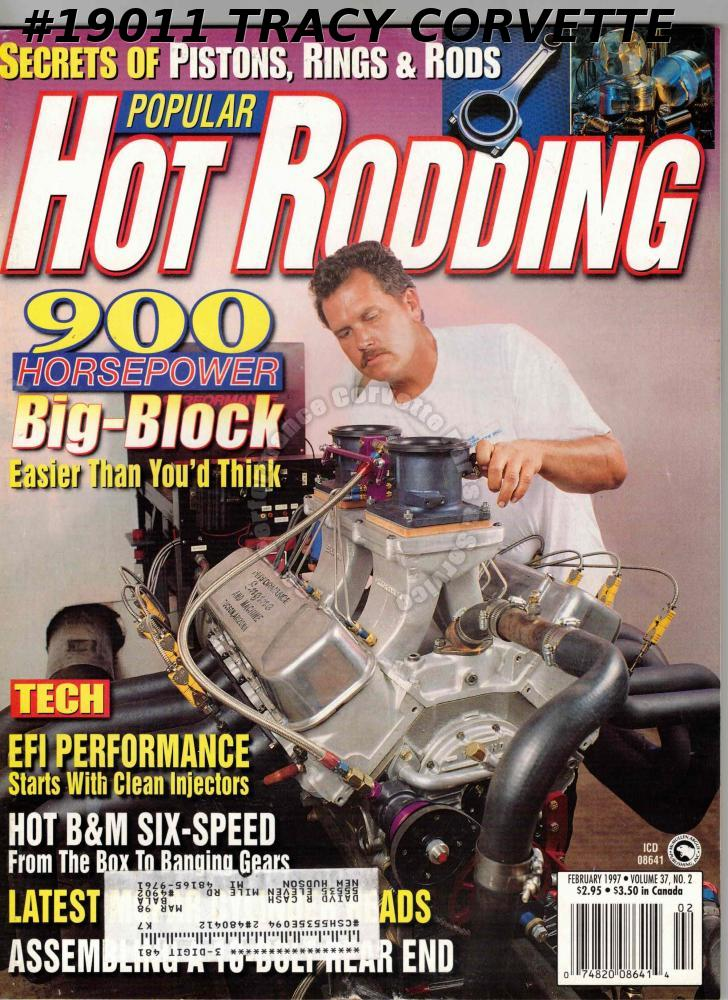 February 1997 Popular Hot Rodding Brent Jarvis Corvette NHRA Pro Champs