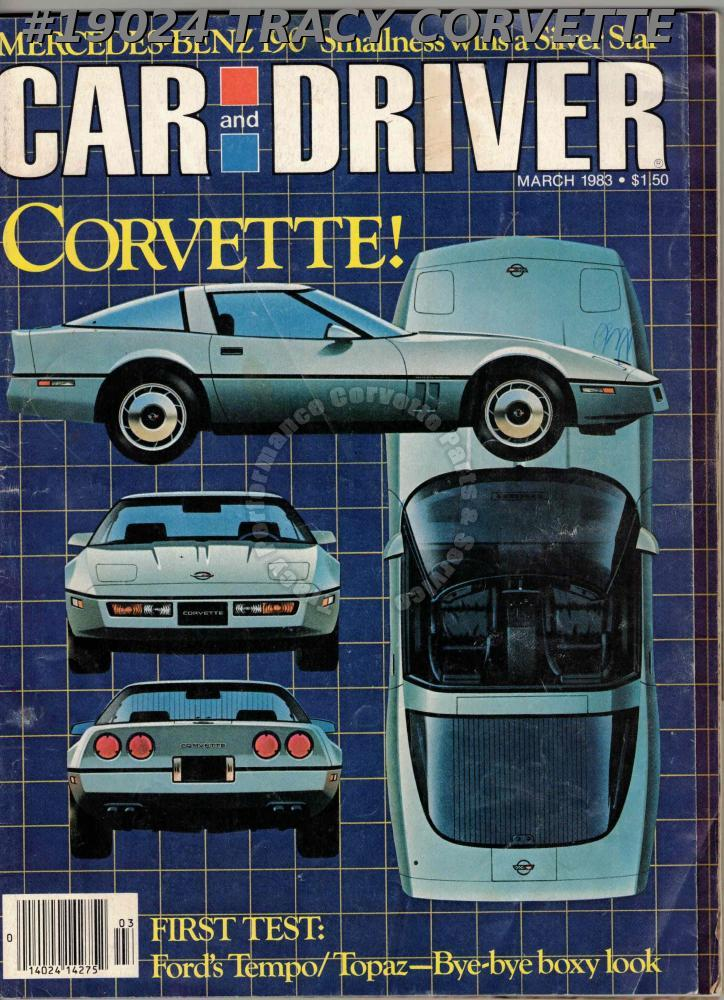 March 1983 Car and Driver 1984 Corvette Toyota Tercel 4WD SR5