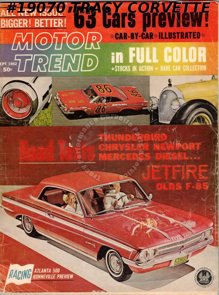 September 1962 Motor Trend 1963 Cars Thunderbird Olds F-85 Jetfire