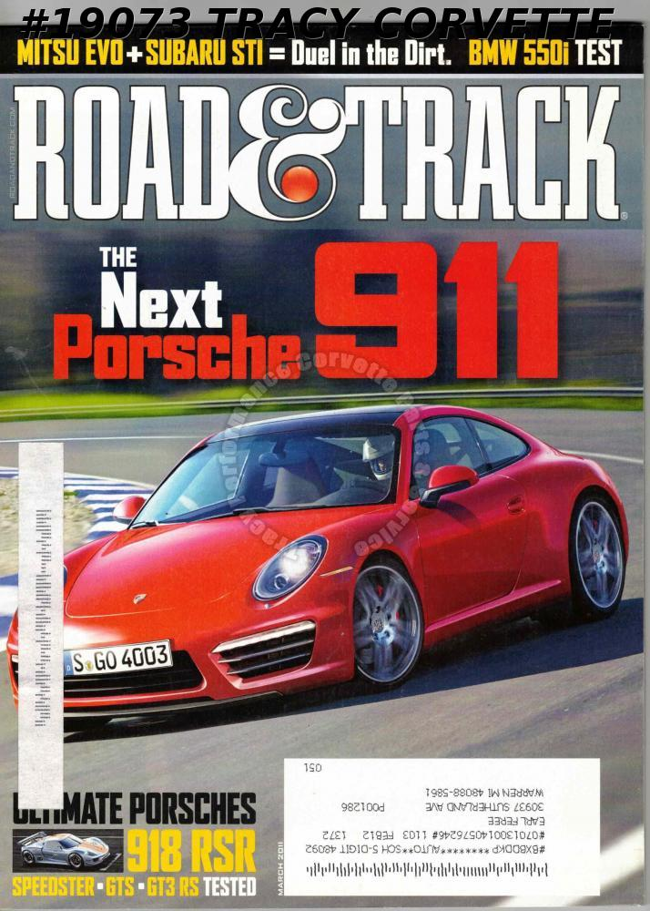 March 2011 Road & Track Porsche 911 Speedster 911 Carrera GTS