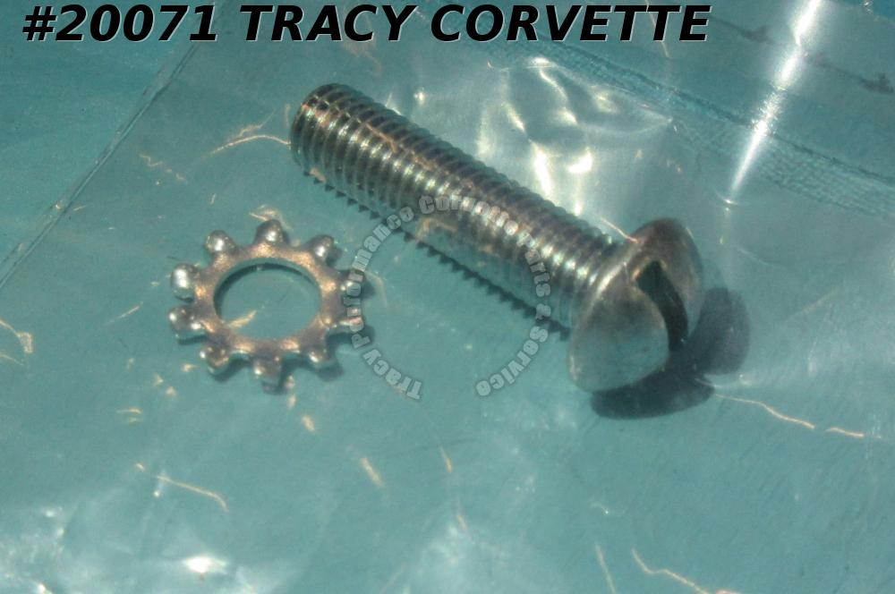 1956-1967 Corvette Coil Bracket Screw 424639 w/Star Washer Slotted Head 1x1/4-28