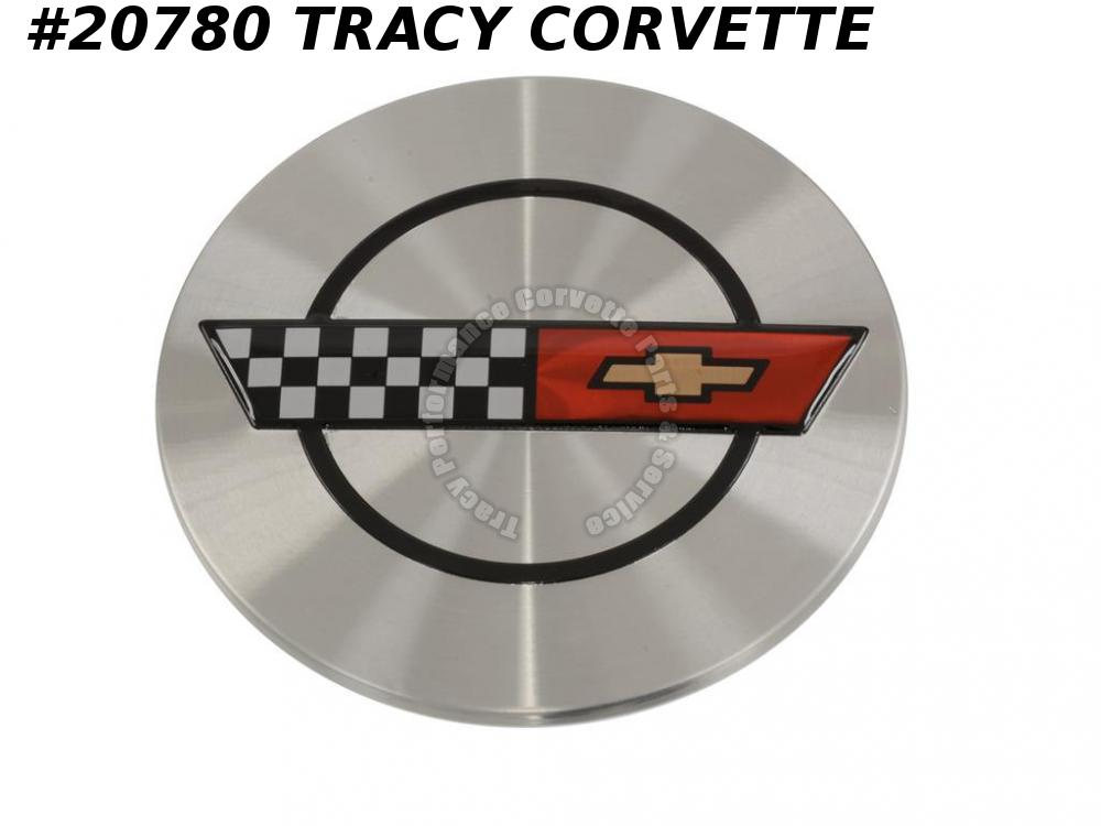 1986-1990 Corvette Wheel Center Cap - with Emblem (Except 88-89)