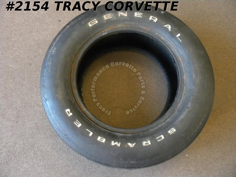 1968-1972 New General Scrambler F60x15 Belted DOT White Letter or Blackwall Tire