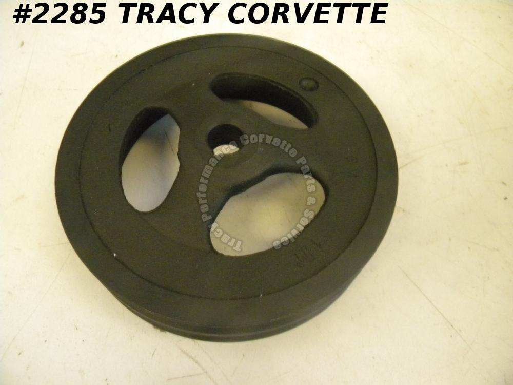 1965-1974 Corvette Power Steering Pulley Double Groove 3878245 Cast Iron 427/454