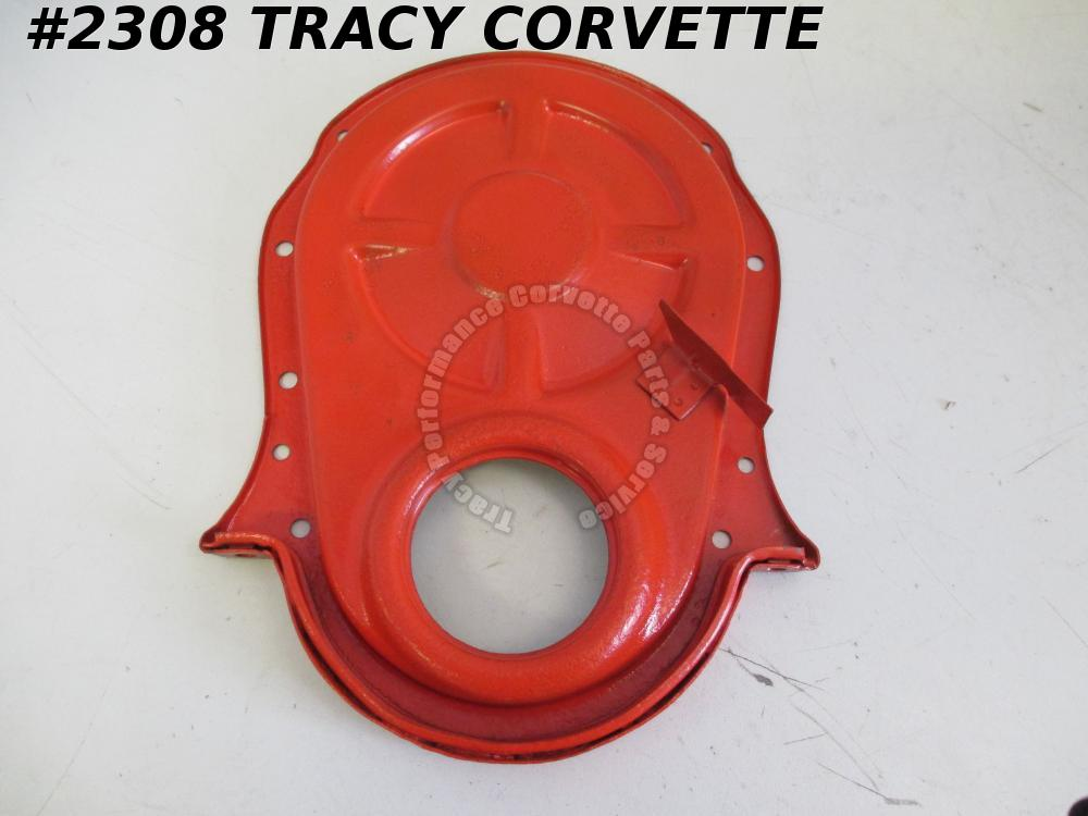 "1969-70 Chevrolet BB Timing Chain Cover for 8"" Balancer Dowel Hole Partial Date"